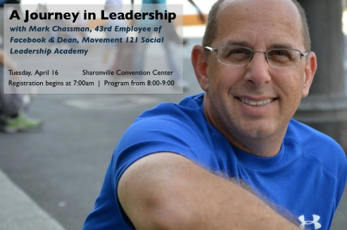 "Mark Chassman presents ""A Journey in Leadership"" April 16 in Cincinnati"