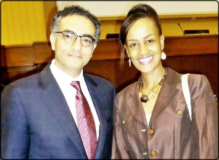 Ms. Sophia Bekele & Mr. Fade Chehade ICANN CEO at the MIG meeting in Addis Ababa