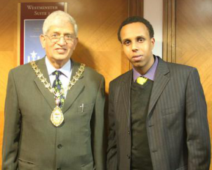 The Mayor of Ealing and Abdi Guleid