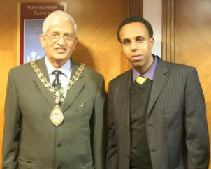 The Mayor of Ealing and Abdi Guleid