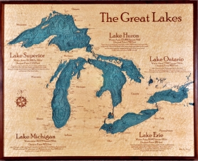 3 D Chart Art Of Great Lakes
