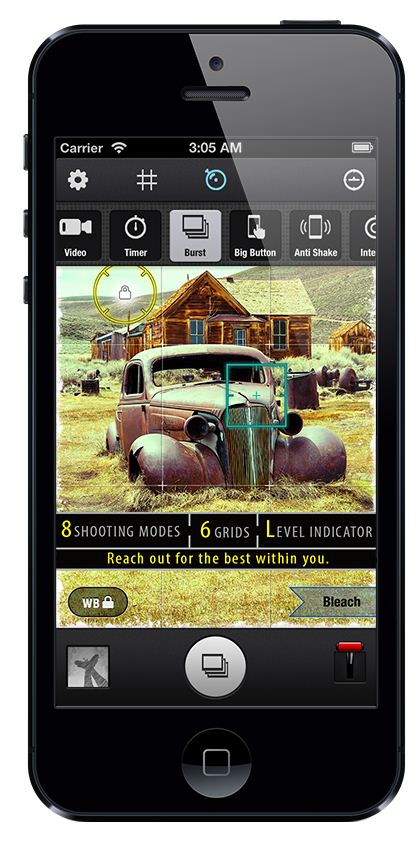 Zitrr Camera Shooting Modes