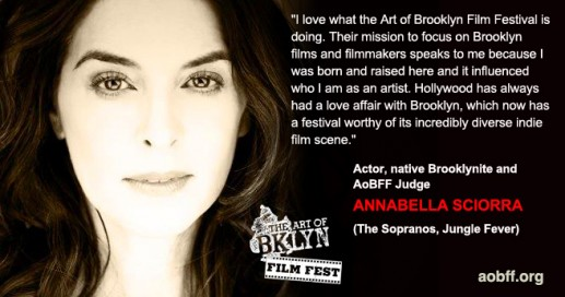 Actor Annabella Sciorra, 2013 Art of Brooklyn Film Festival Judge