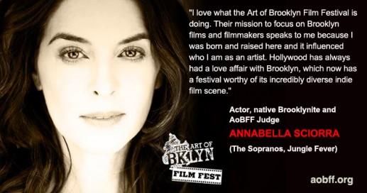 Actor Annabella Sciorra, 2013 Art of Brooklyn Film Festival Judge