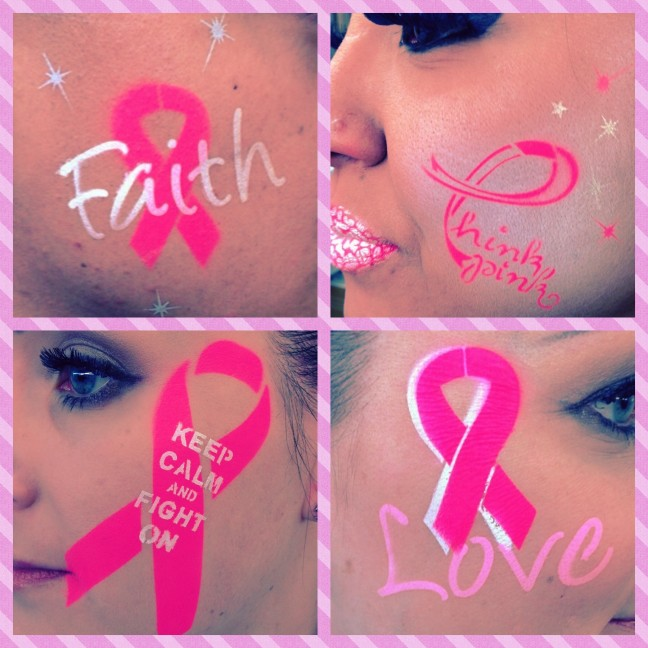 pink ribbon airbrush