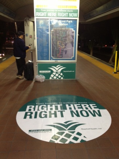 The RIGHT HERE, RIGHT NOW campaign engages the public at a Miami metro station.