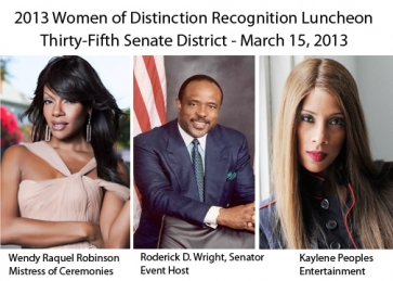Women of Distinction Luncheon Wendy R Robinson, Roderick Wright, Kaylene Peoples