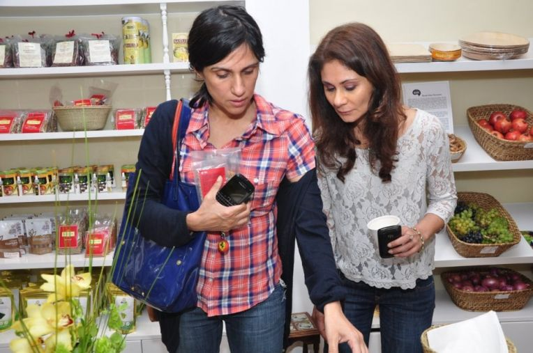 Rina Dhaka and Ragini Mehra at The Kirana Shop