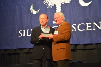 Ron Mohling of Southern Weaving receives Silver Crescent Award