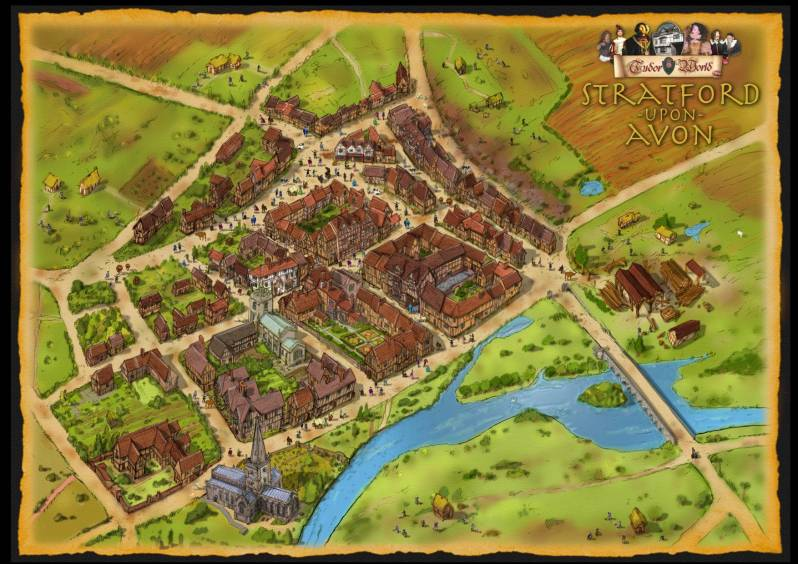 New Map Of Shakespeares Stratford Revealed The Falstaff