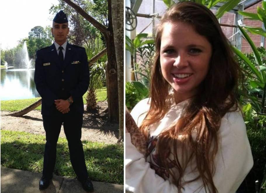 Teens-In-Flight graduate Juan Rodriguez and student Cora Rand.