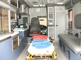 equipments inside ground ambulance