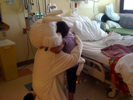 E Bunny Visits Children's Hospital in Las Vegas, NV