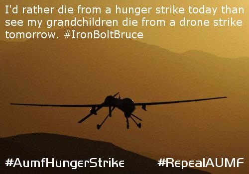 #AumfHungerStrike | AUMF 2001 Hunger Strike