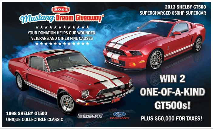 Mustang dream giveaways