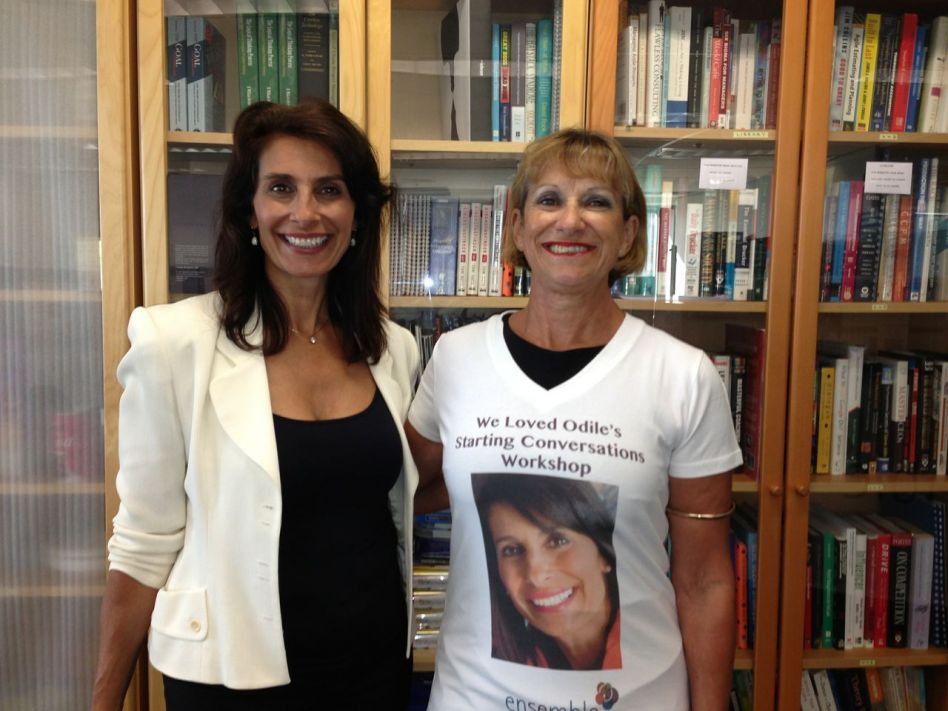 """Odile Faludi with Tansy Grant """"loved workshop"""" tshirt"""