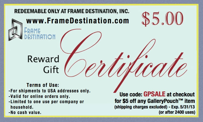 Frame destination coupon code