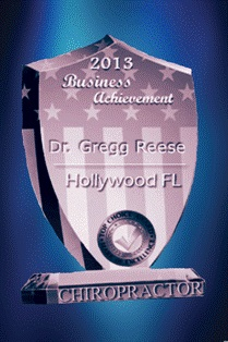 Hollywood FL Chiropractor of the Year ~ Dr. Gregg