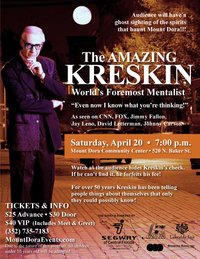 The Amazing Kreskin in Mount Dora, FL