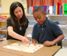 Lorie and Student Using the TIERS program