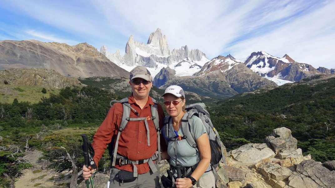 Darren and Sandy at Mt. Fitz Roy, Argentina