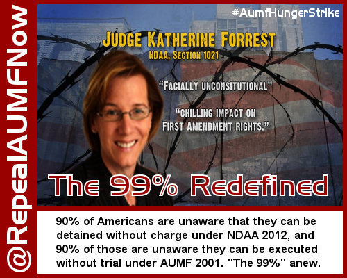 """The 99 Percent"" Know Little About AUMF 2001 and NDAA 2012"