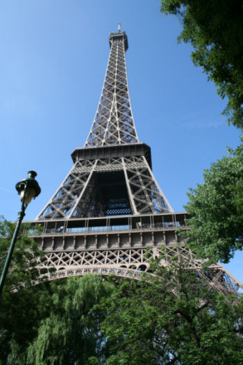 Eiffel Tower viewed from the Champs de Mars