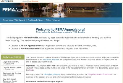 FEMAAppeal.org_homepage