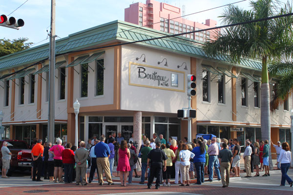A crowd of nearly 100 arrived for the Goodwill Boutique on First Grand Opening