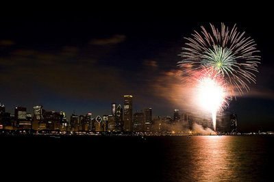 Summer Fireworks at Navy Pier