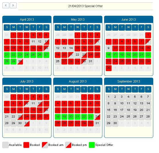 FREE Vacation Rental Booking Calendar