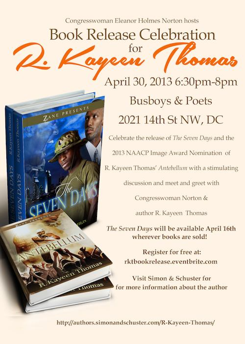 R. Kayeen Thomas Book Release 4/30