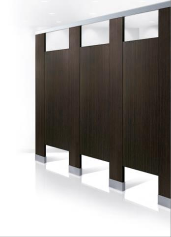 Bobrick introduces new line of high pressure laminate for Bathroom divider hardware