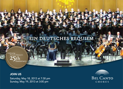 Bel Canto Chorus presents Brahms' Ein deutsches Requiem