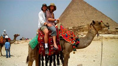 camel in Pyramiden