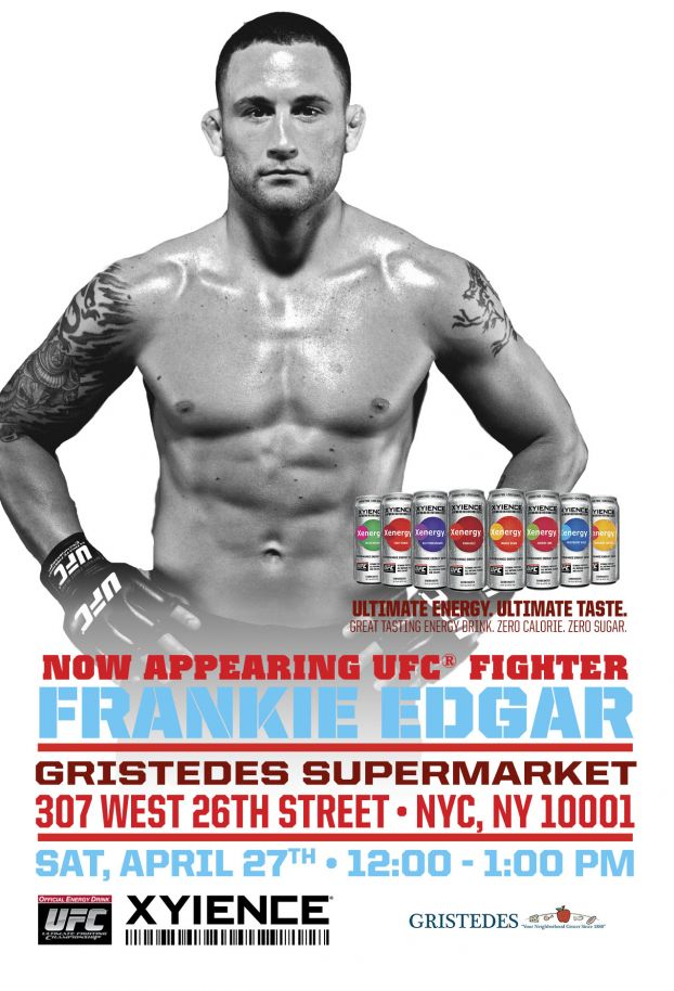 UFC's Frankie Edgar Appears at Gristede's in NYC on April 27