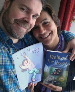 Mony and Alberto with their books