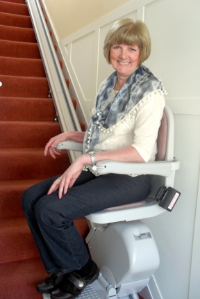 Enjoying Her Stairlift - Jennifer Croxford Freed Up Her Home