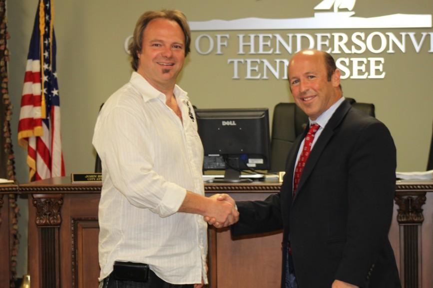 Proclamation by Hendersonville, TN Mayor Scott Foster to STMA's Mark Dreyer