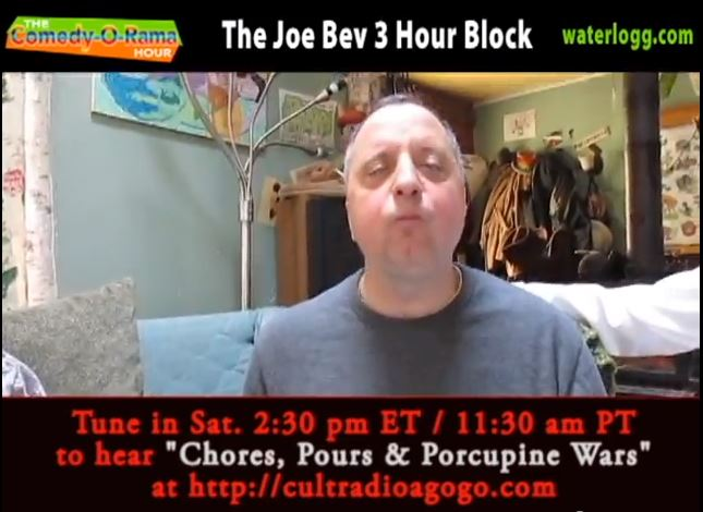 Joe Bev's 56th Radio Play Saturday, April 27, 2:30 pm ET cultradioagogo.com!