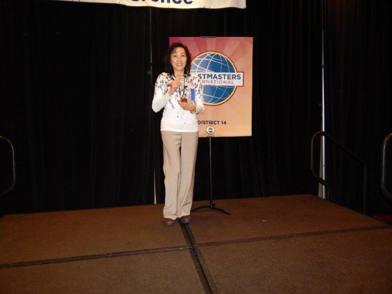 Lina Surianto-Toastmaster of the year 2013 for the State of Georgia