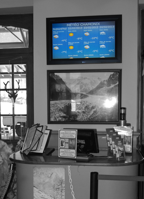 Chamonix Digital Signage Counter Navori Ql