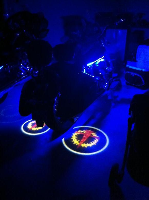 Led Ghost Rider Lights For Motorcyclescustom Logo Available