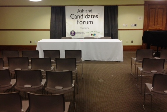 Ashland residents will have an opportunity to ask questions of the candidates.