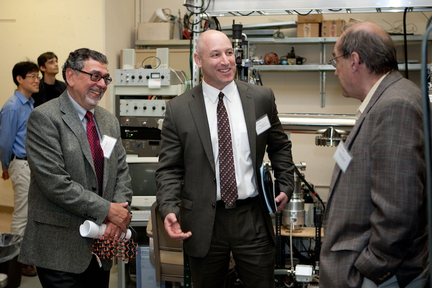 IAMDN Dir. Leonard Feldman, Rutgers' Anthony Nicotera & Prof. Torgny Gustafsson