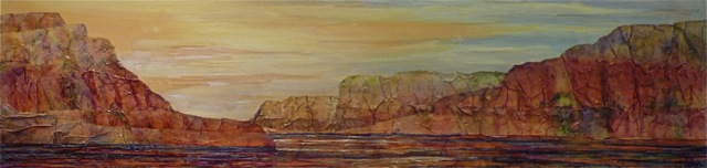 LelijaRoy-EarlyLaunch-12x48 acrylic mixed media.