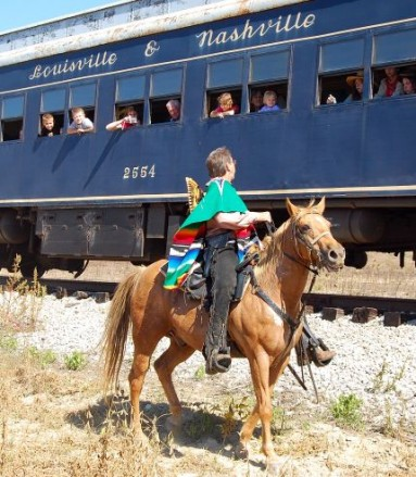 The Kentucky Railway Museum offers fun family-friendly train robbery excursions.