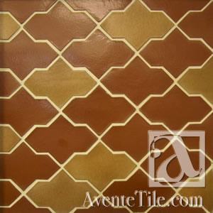 Clay Arabesque Ceramic Tile
