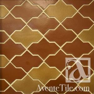 Clay Arabesque Ceramic Tile