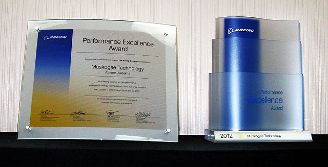 2012 Boeing Performance Excellence Award